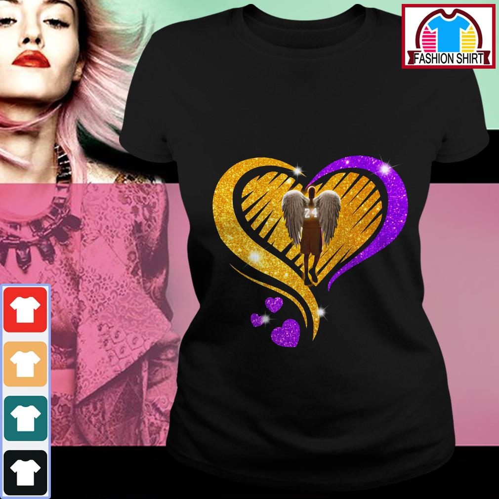 Official Kobe Bryant diamond heart shirt by tshirtat store Ladies Tee
