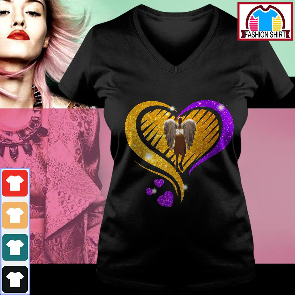 Official Kobe Bryant diamond heart shirt by tshirtat store V-neck T-shirt
