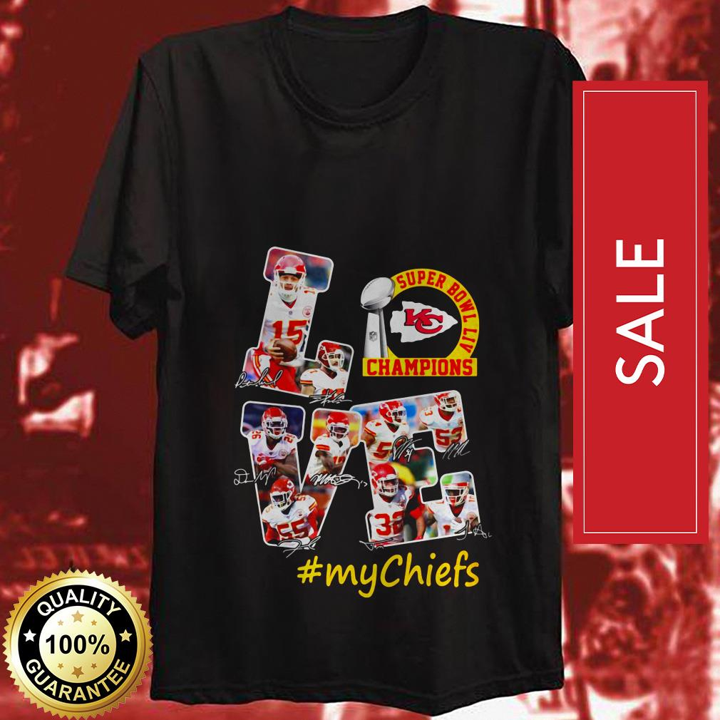 Official Love Kansas City Chiefs Super Bowl Liv Champions MyChiefs shirt by tshirtat store Shirt