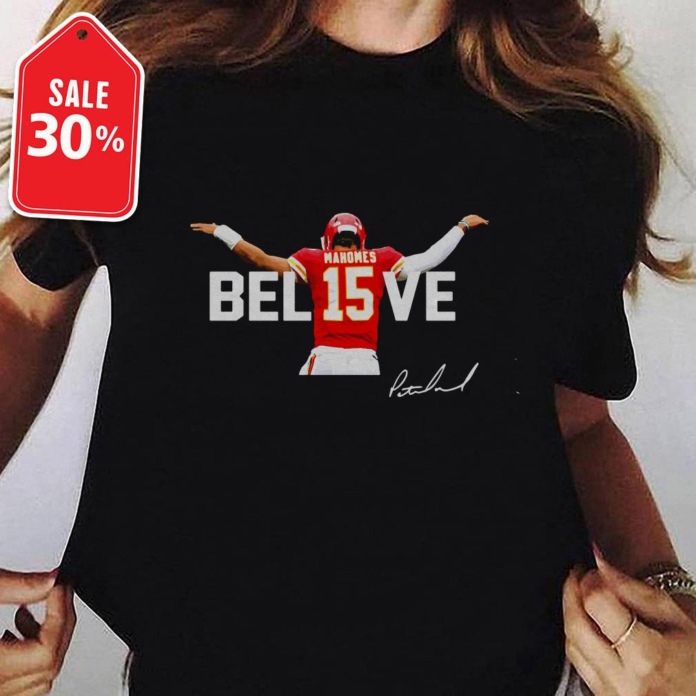 Official Mahomes Bel15ve signature shirt by tshirtat store Ladies Tee