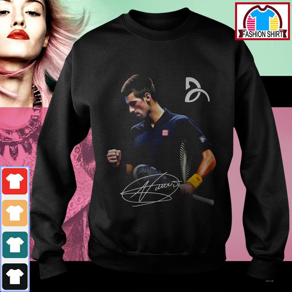 Official Novak Djokovic signature shirt by tshirtat store Sweater