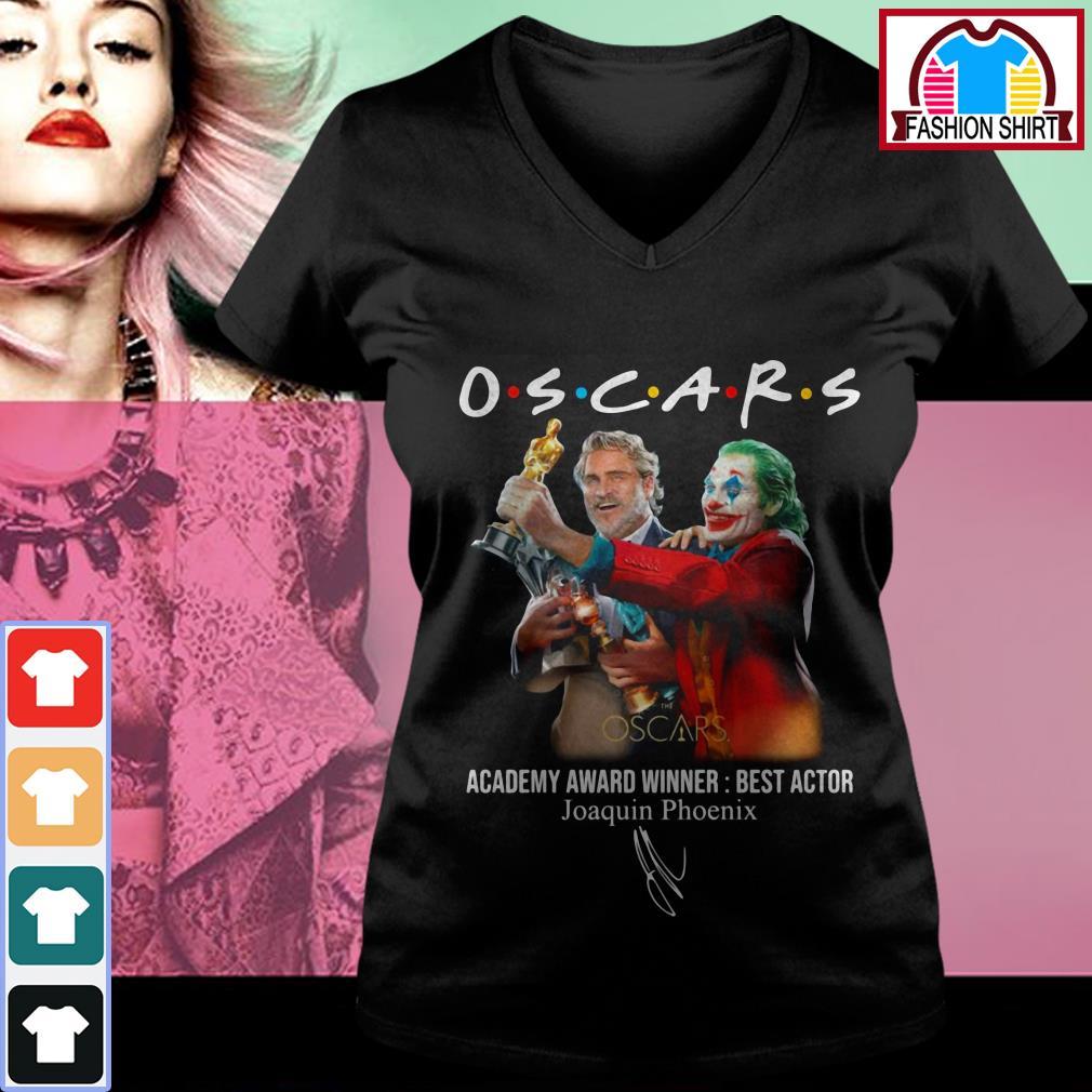 Official Oscars Academy award winner best actor Joaquin Phoenix shirt by tshirtat store V-neck T-shirt