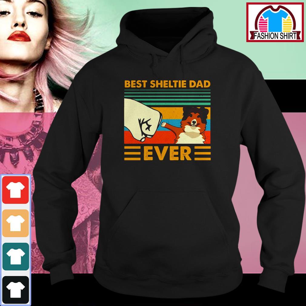 Official Shetland Sheepdog Best Sheltie Dad Ever Vintage shirt by tshirtat store Hoodie