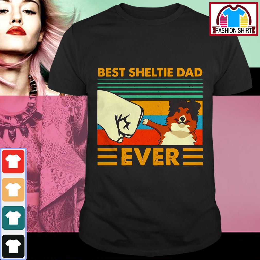Official Shetland Sheepdog Best Sheltie Dad Ever Vintage shirt by tshirtat store Shirt