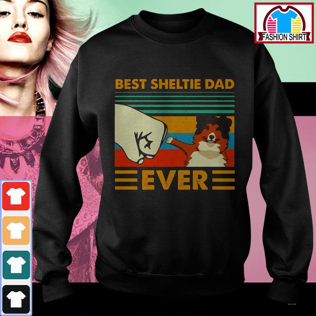 Official Shetland Sheepdog Best Sheltie Dad Ever Vintage shirt by tshirtat store Sweater