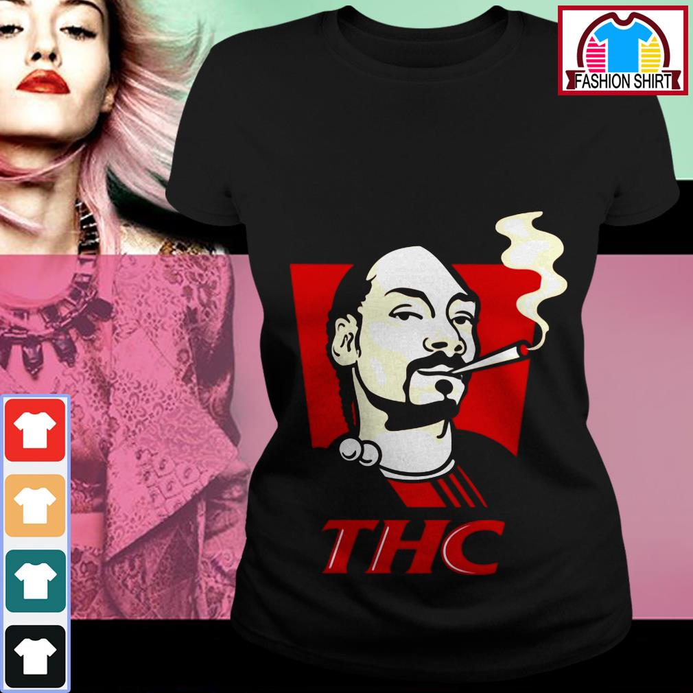 Official Snoop Dog smokes THC shirt by tshirtat store Ladies Tee