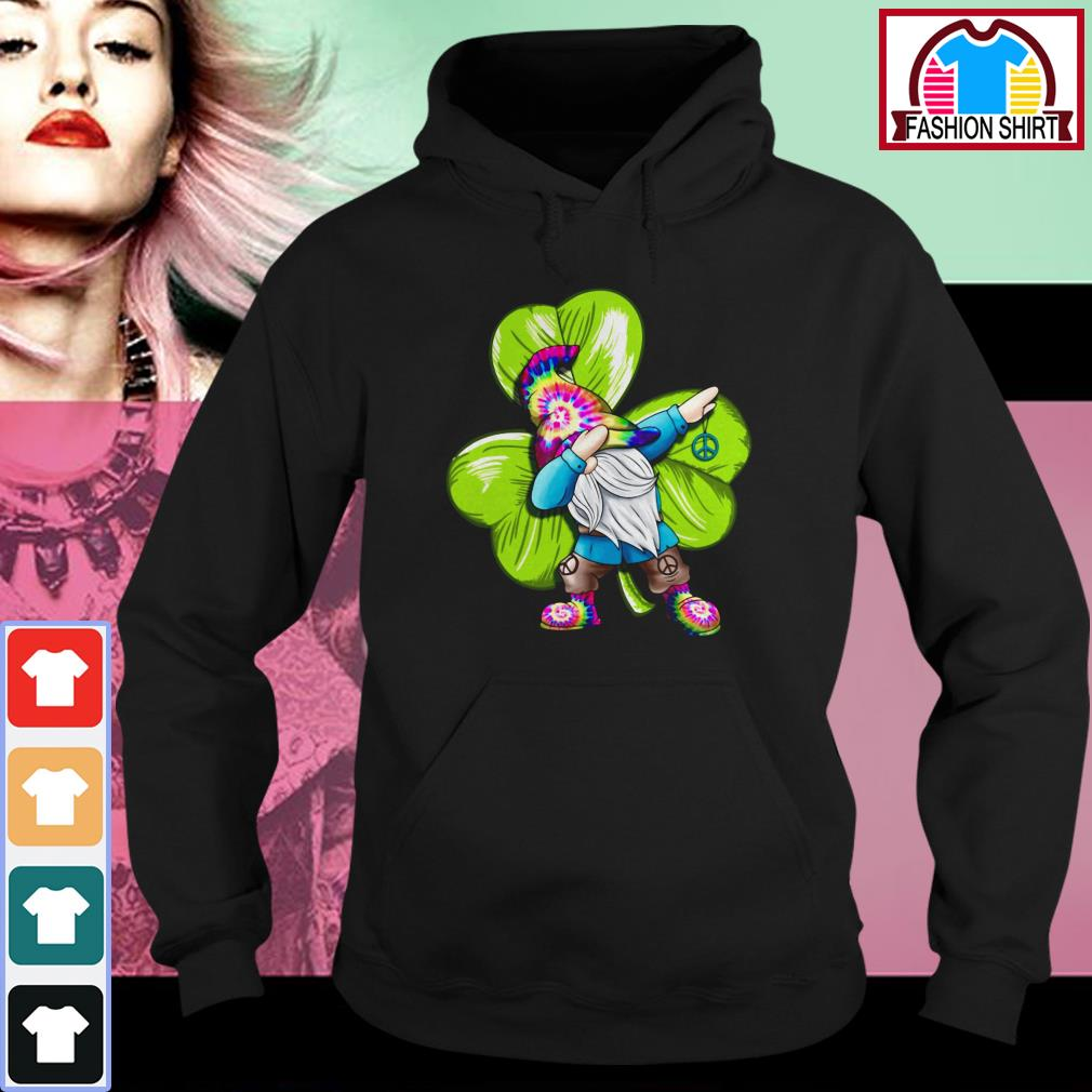 Official St Patrick's day hippie gnome dabbing shirt by tshirtat store Hoodie