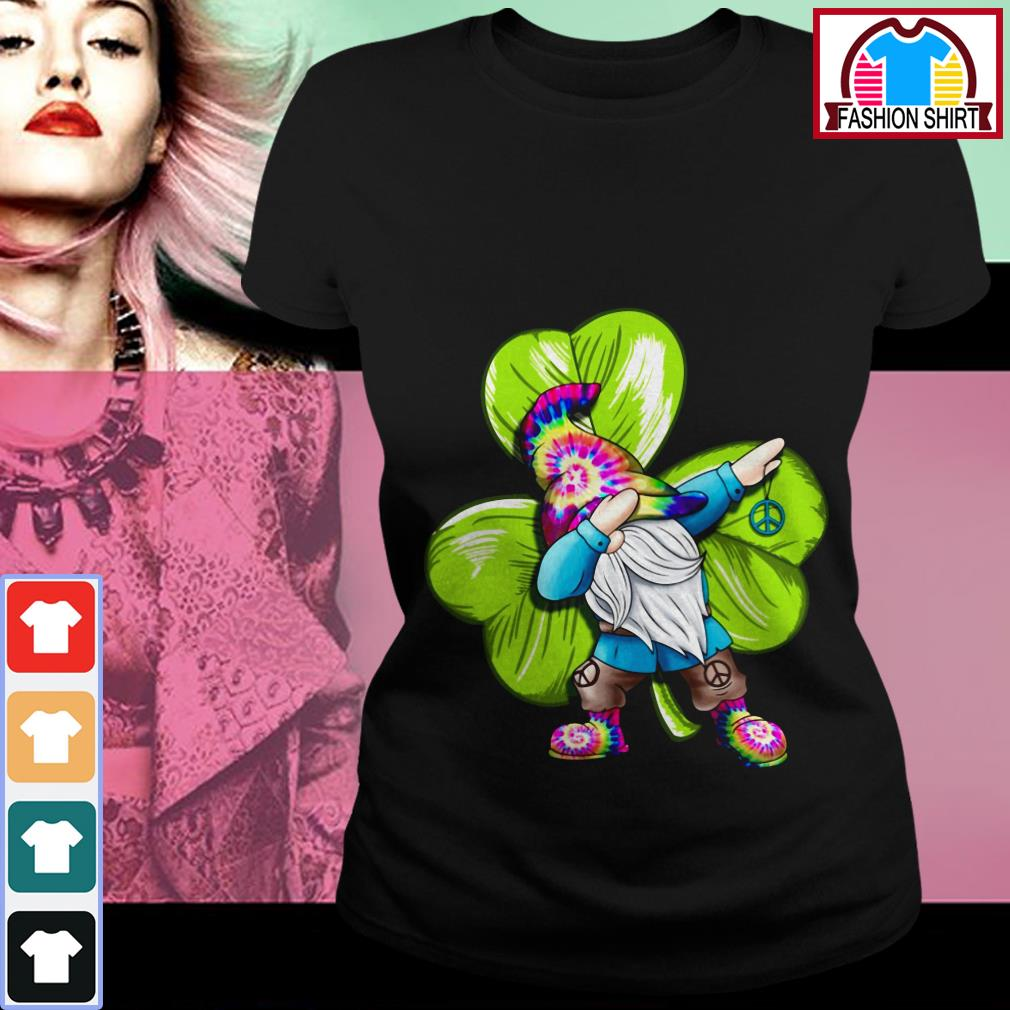 Official St Patrick's day hippie gnome dabbing shirt by tshirtat store Ladies Tee