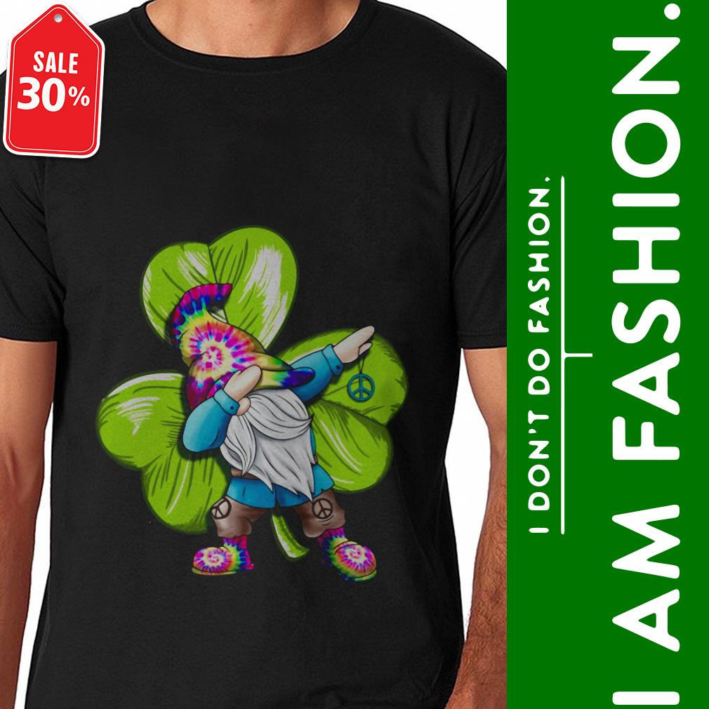 Official St Patrick's day hippie gnome dabbing shirt by tshirtat store Shirt