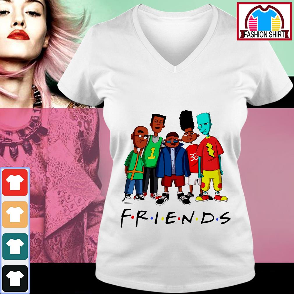 Official We Are Black Friends TV show shirt by tshirtat store V-neck T-shirt