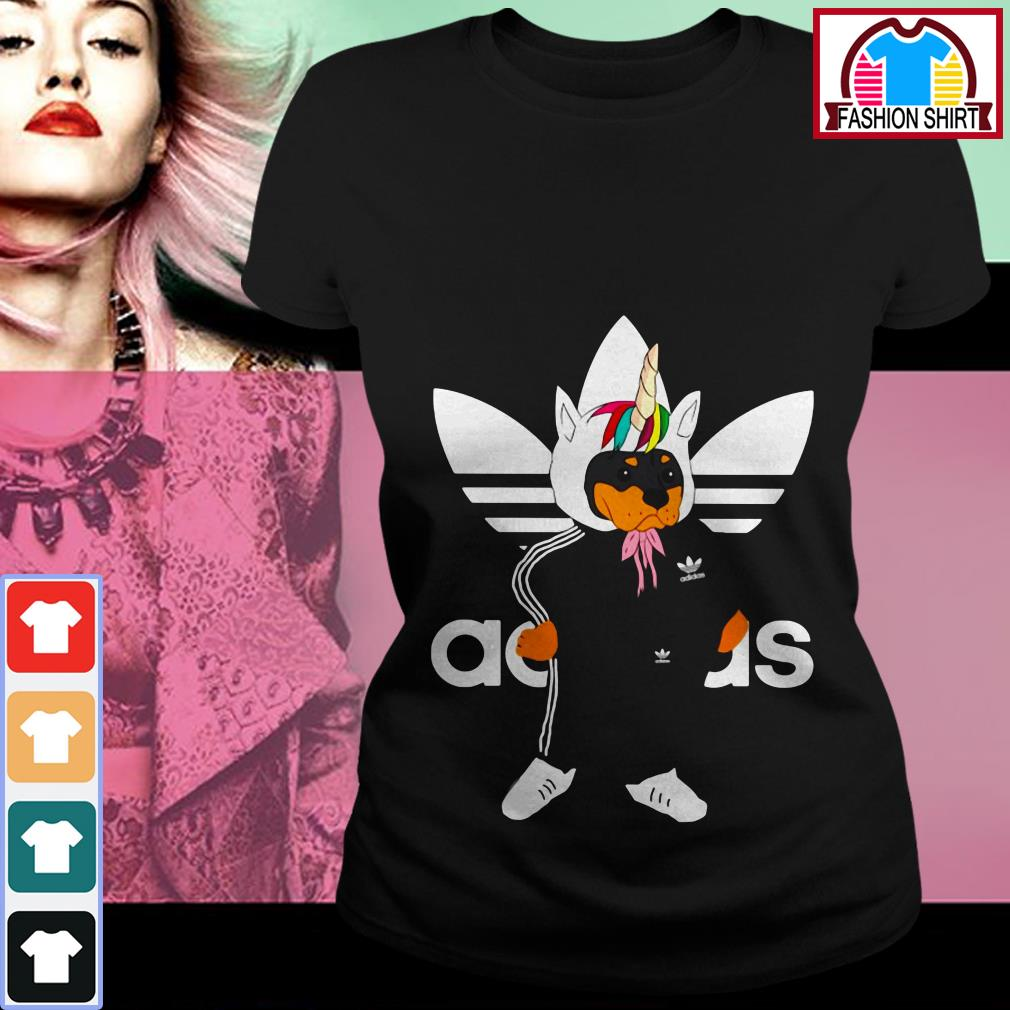 Official Adidas Rottweiler unicorn shirt by tshirtat store Ladies Tee
