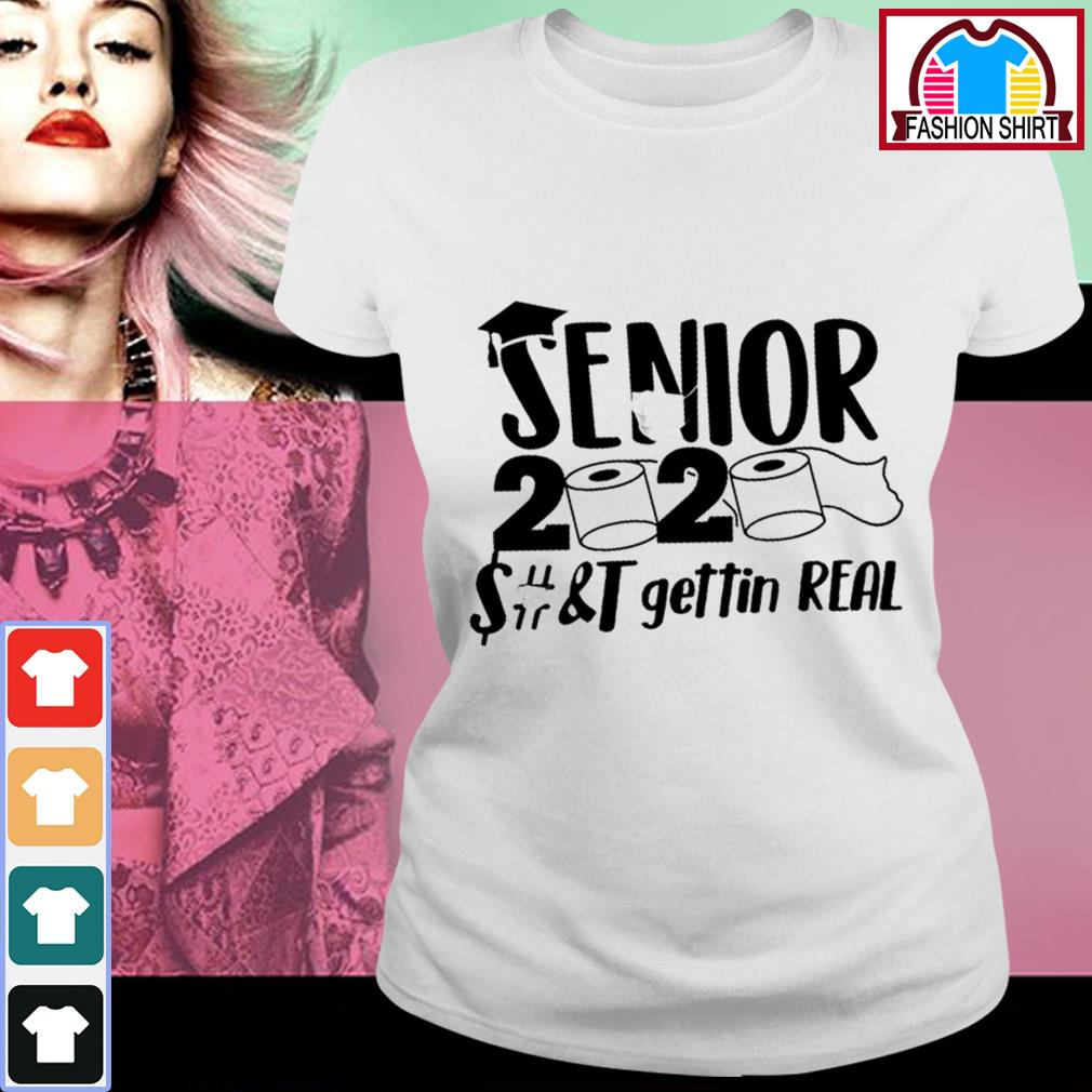 Official Senior 2020 toilet paper class of 2020 shirt by tshirtat store Ladies Tee