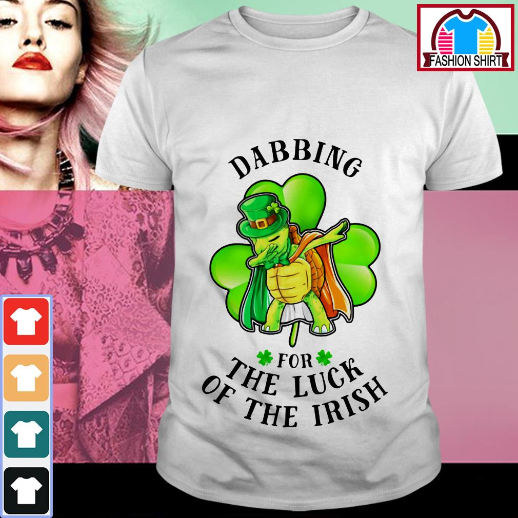 Official St Patrick's day turtle dabbing for the luck of the Irish shirt by tshirtat store Shirt