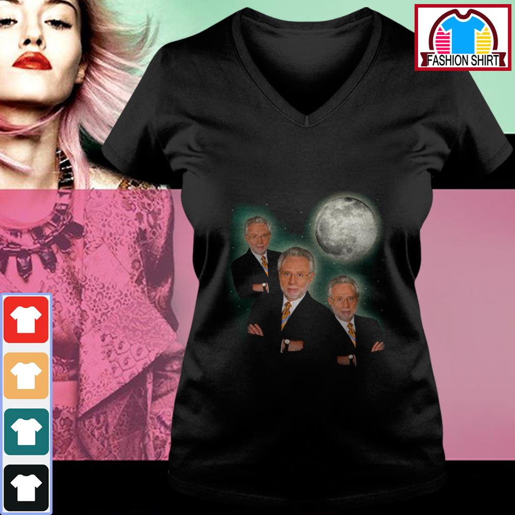Official Three wolf moon wolf blitzer shirt by tshirtat store V-neck T-shirt