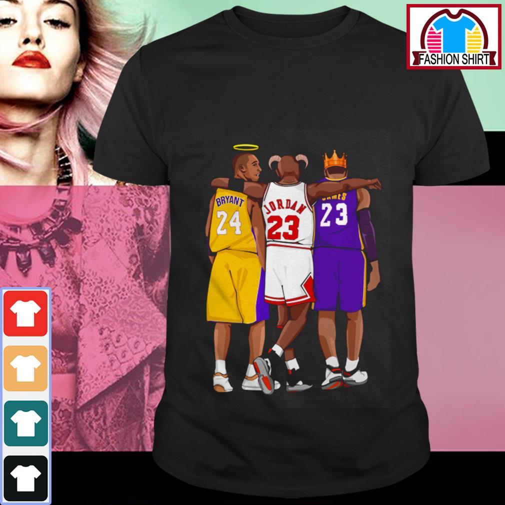 Michael Jordan Kobe Bryant and Lebron James shirt