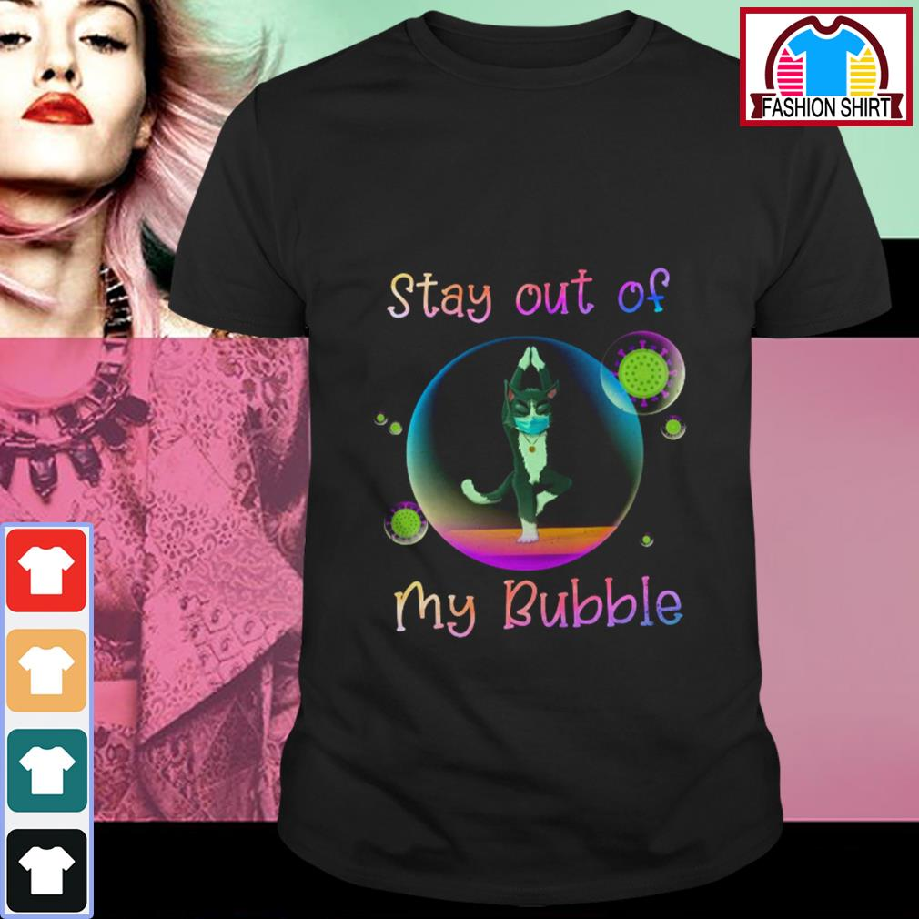 Official Yoga cat stay out of my bubble shirt by tshirtat store Shirt