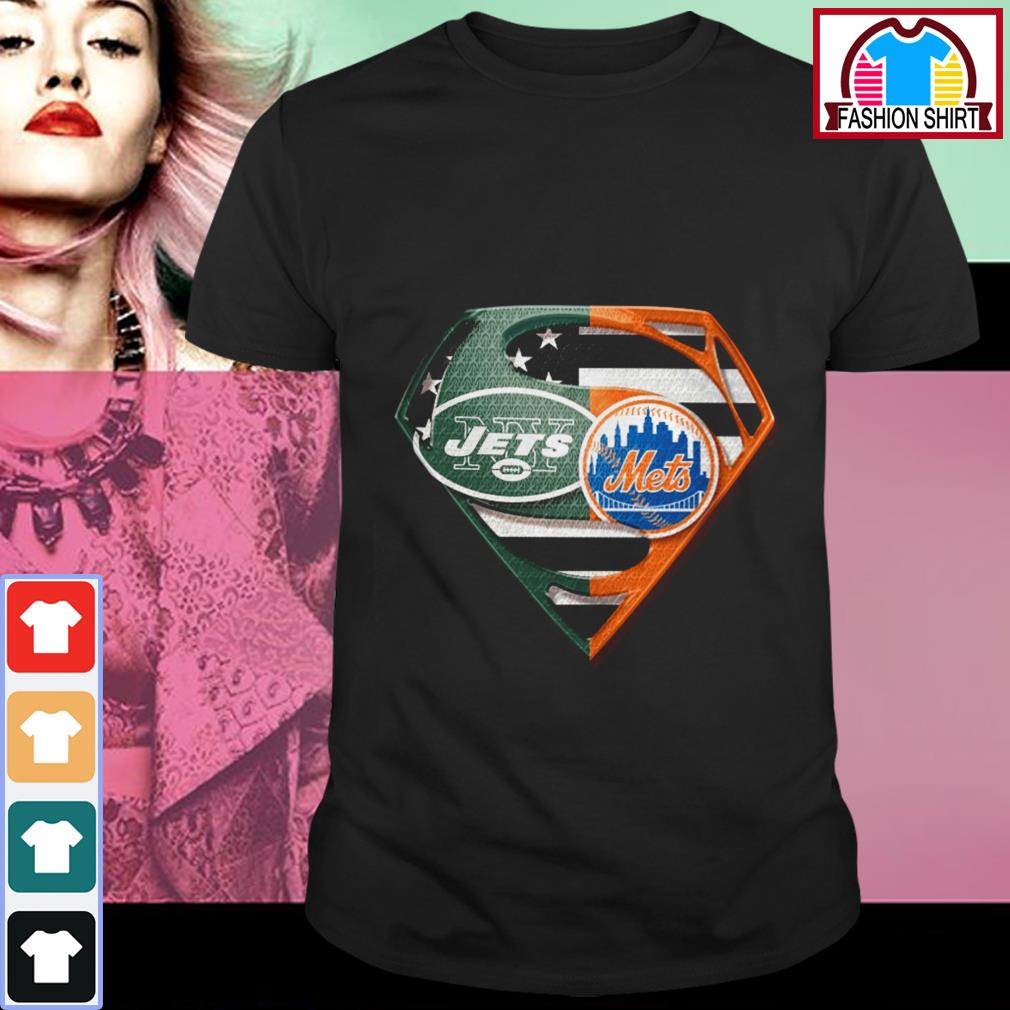 Superman New York Jets and New York Mets shirt