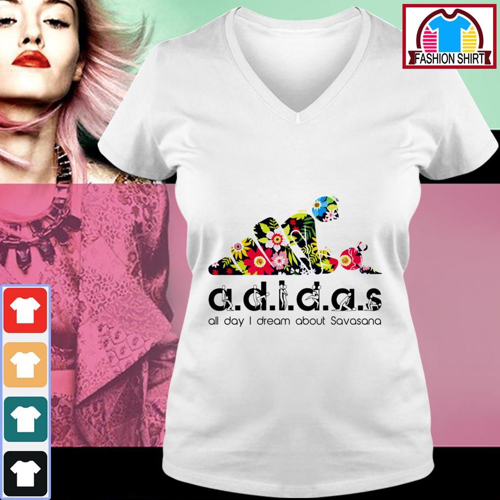 Adidas all day I dream about Savasana V-neck T-shirt