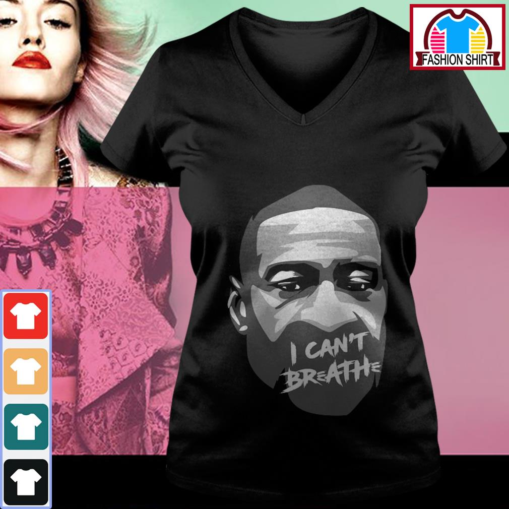 George Floyd I can't breathe shirt by tshirtat store V-neck T-shirt