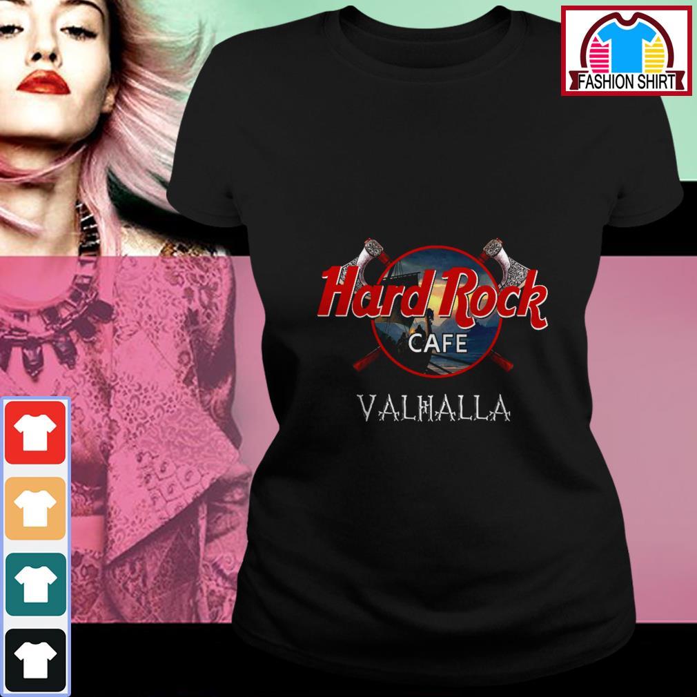 Hard Rock cafe Valhalla shirt by tshirtat store Ladies Tee