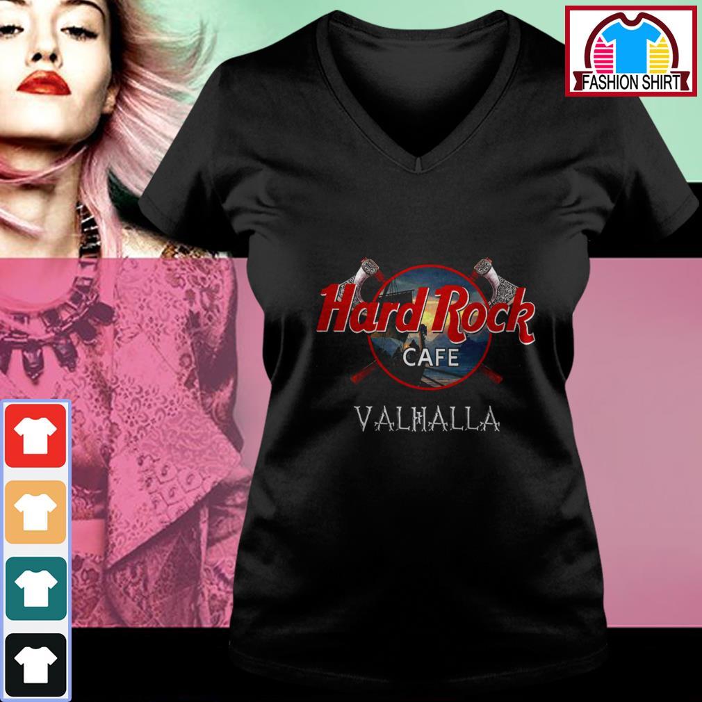 Hard Rock cafe Valhalla shirt by tshirtat store V-neck T-shirt