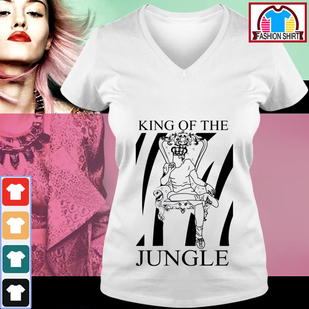 Joe Burrow King of the jungle shirt by tshirtat store V-neck T-shirt