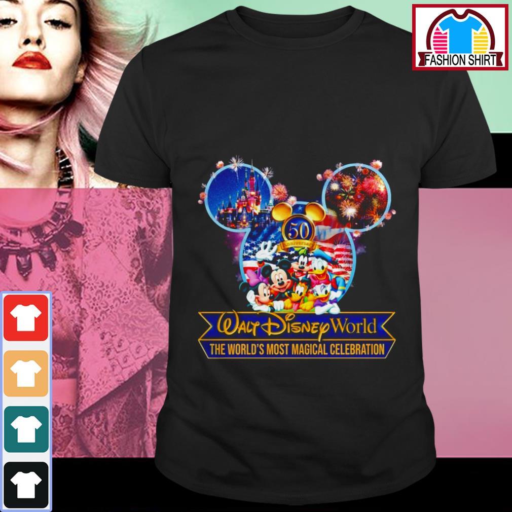 Official 50th anniversary Walt Disney world the world's most magical celebration shirt by tshirtat store Shirt