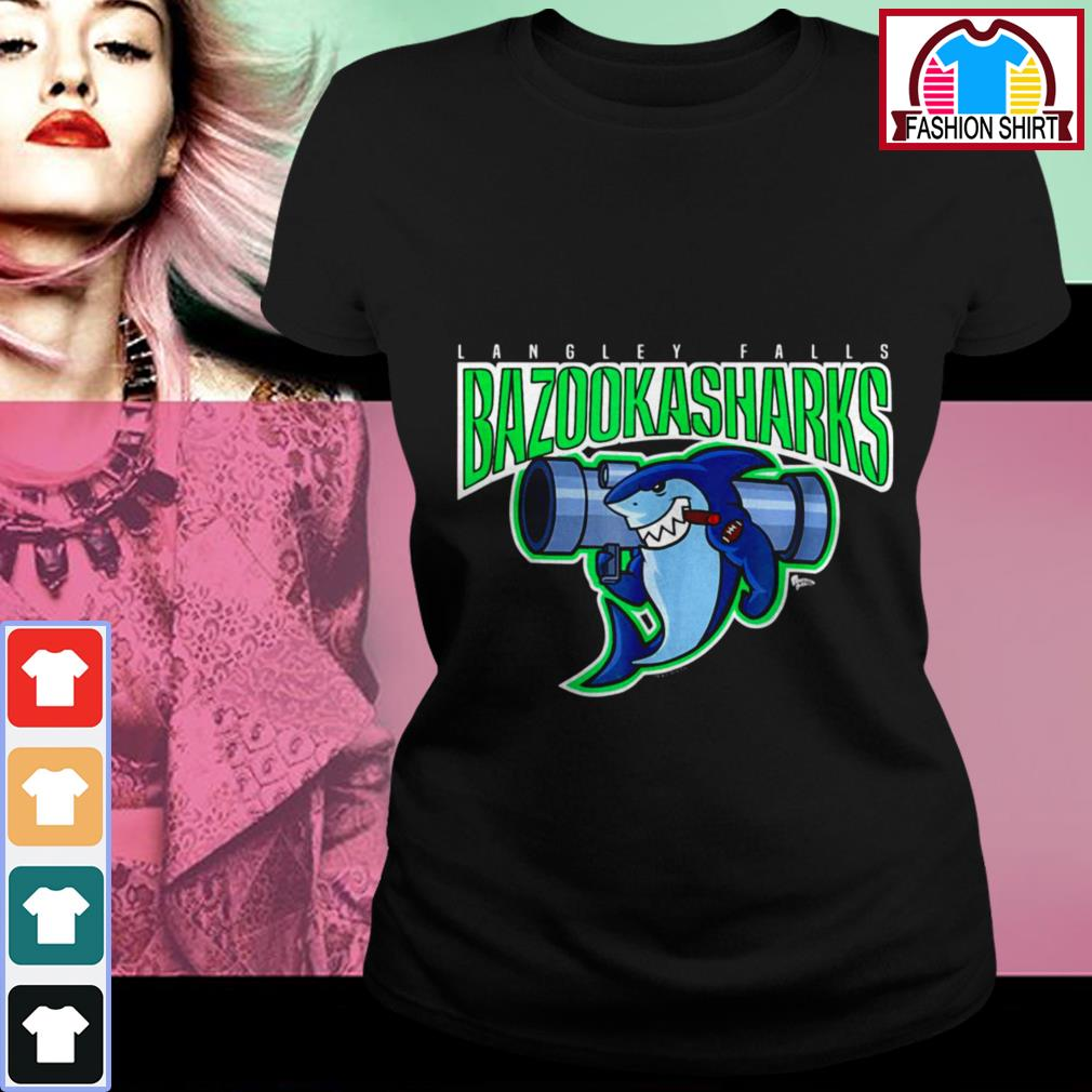 Official American Dad Bazooka Sharks shirt by tshirtat store Ladies Tee