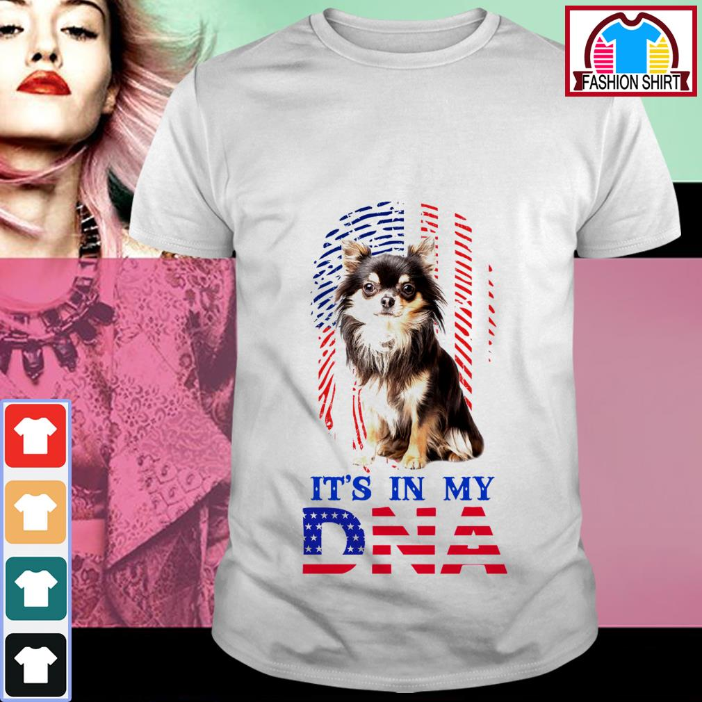 Official American flag Chihuahua it's in my DNA shirt by tshirtat store Shirt