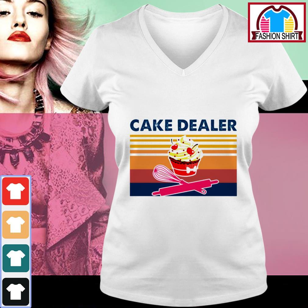 Official Cake dealer vintage shirt by tshirtat store V-neck T-shirt