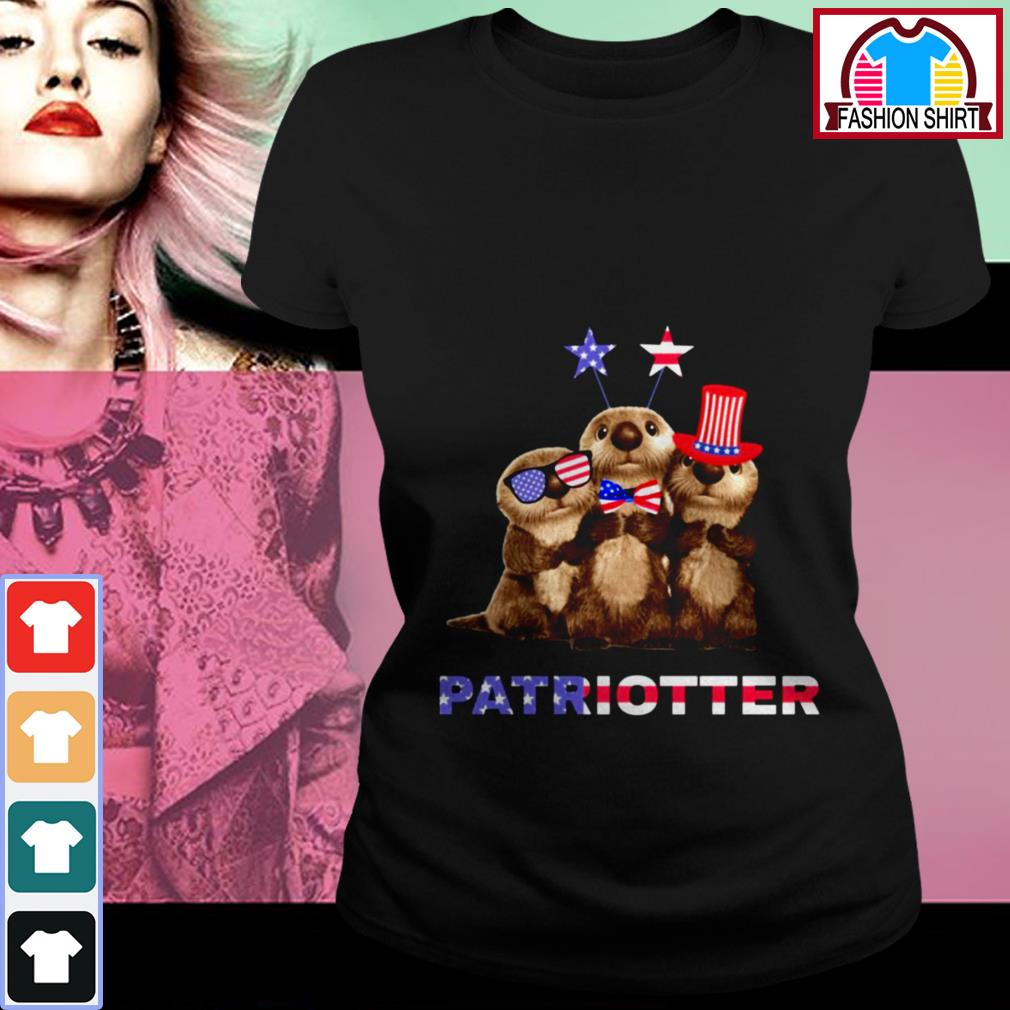 Official Otter Patriotter 4th of July shirt by tshirtat store Ladies Tee