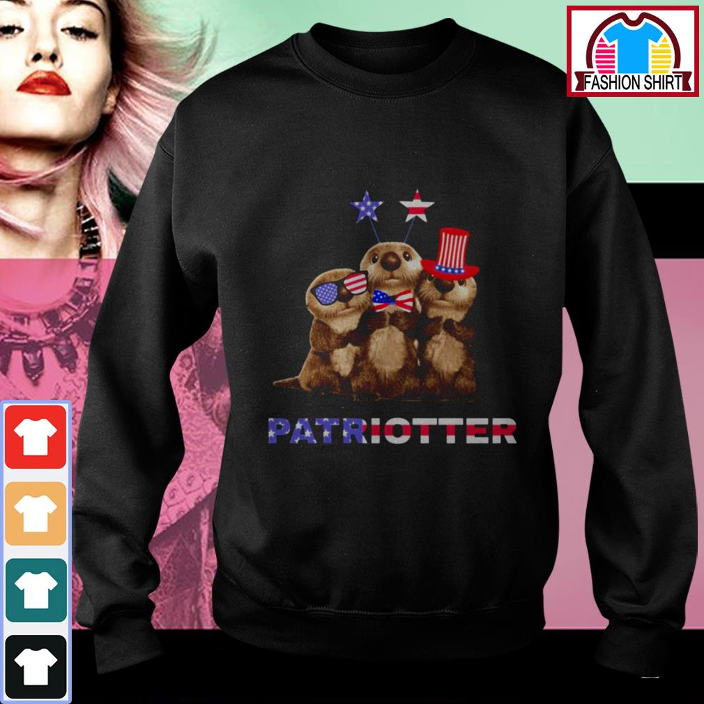 Official Otter Patriotter 4th of July shirt by tshirtat store Sweater