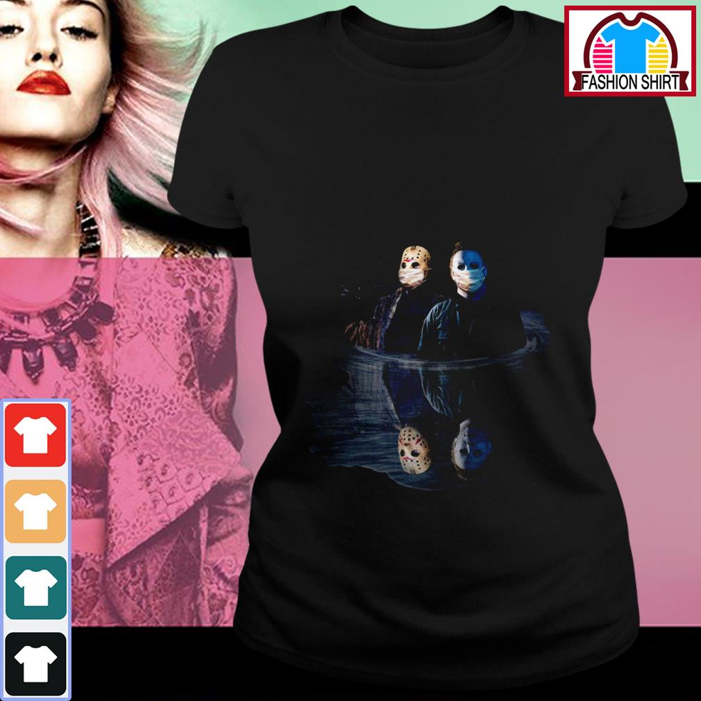 Official Quarantine Jason and Michael water reflection mirror shirt by tshirtat store Ladies Tee