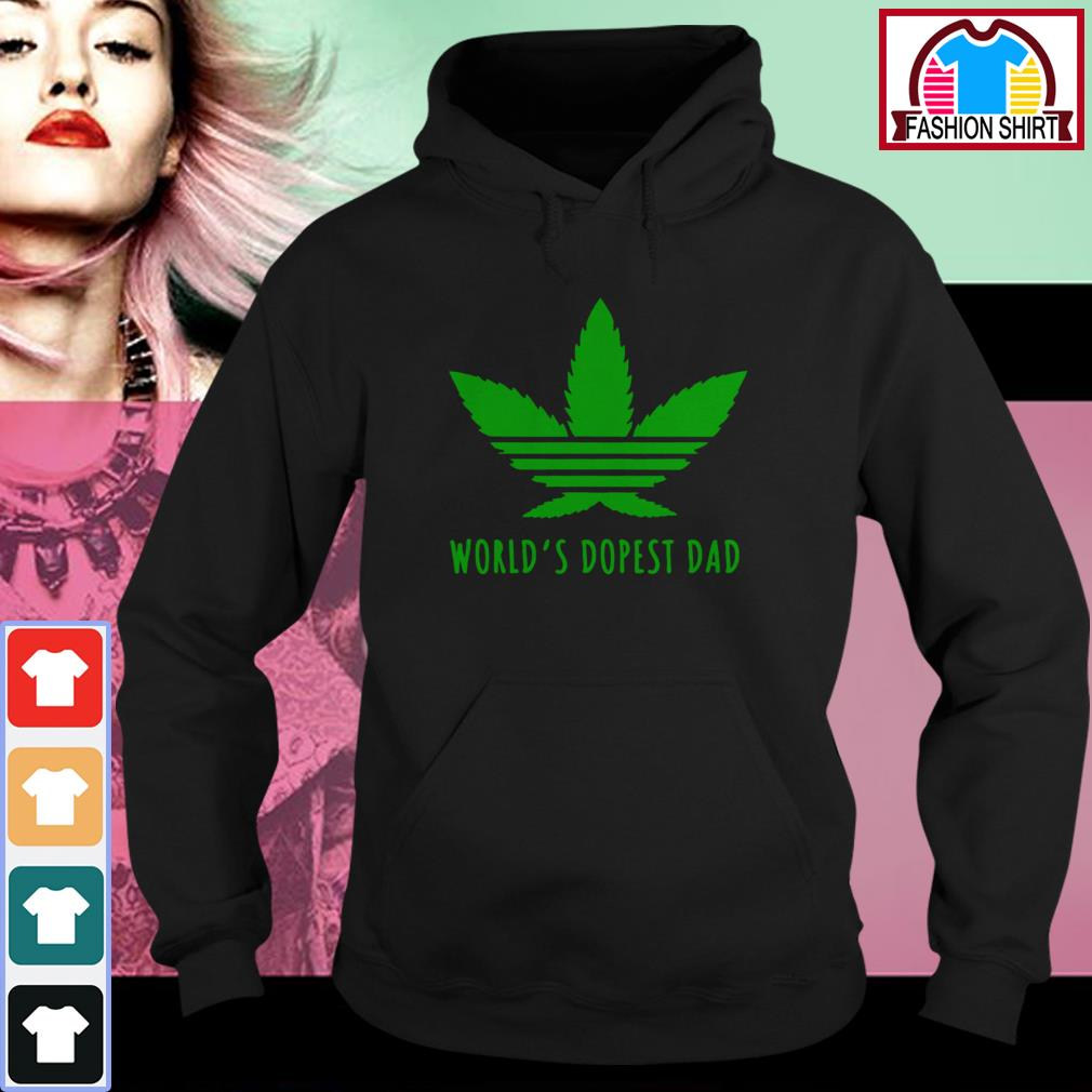 Official Weed world's dopest dad shirt by tshirtat store Hoodie