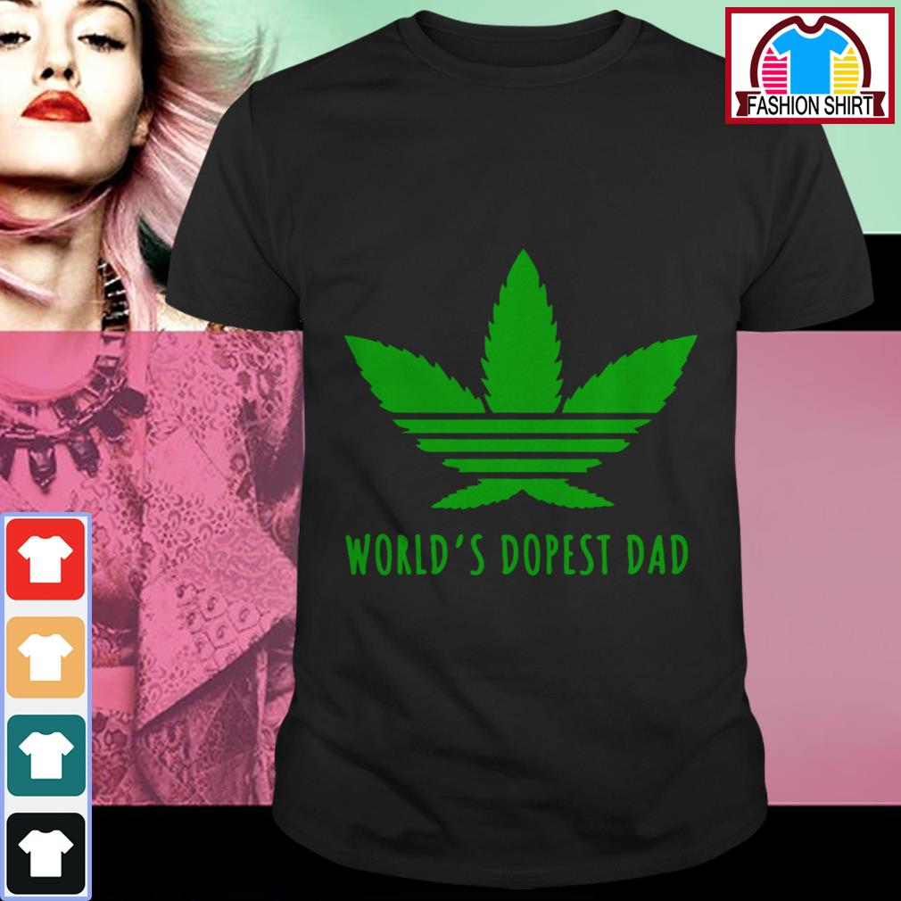 Official Weed world's dopest dad shirt by tshirtat store Shirt