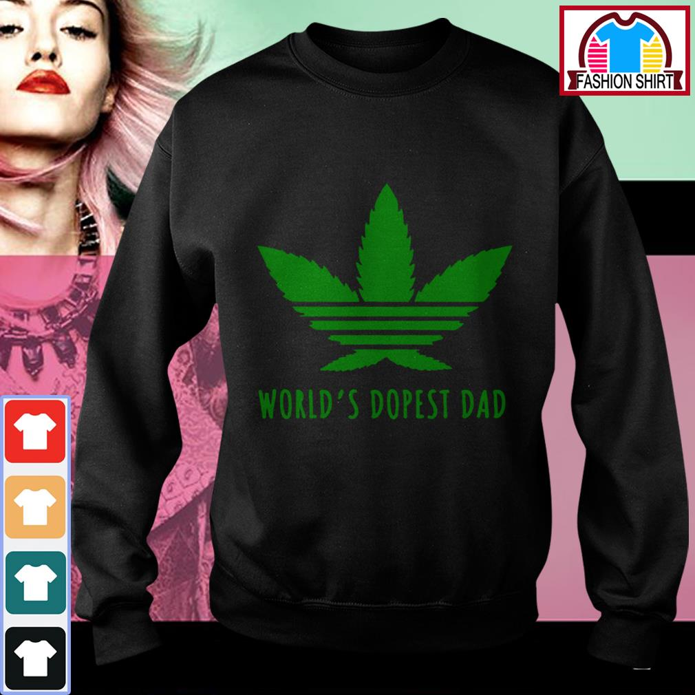 Official Weed world's dopest dad shirt by tshirtat store Sweater