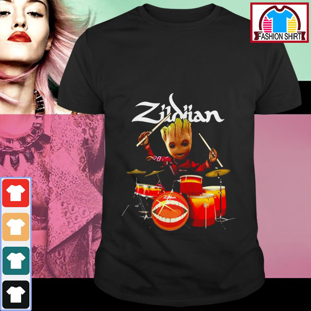 Official Zildjian the only serious choice drumming Groot shirt by tshirtat store Shirt