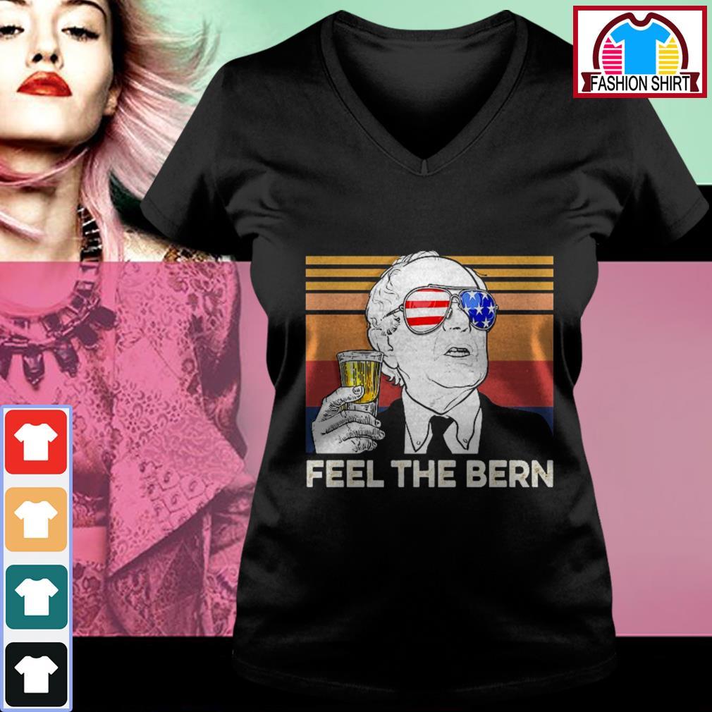 4th of July feel the Bern beer vintage V-neck T-shirt
