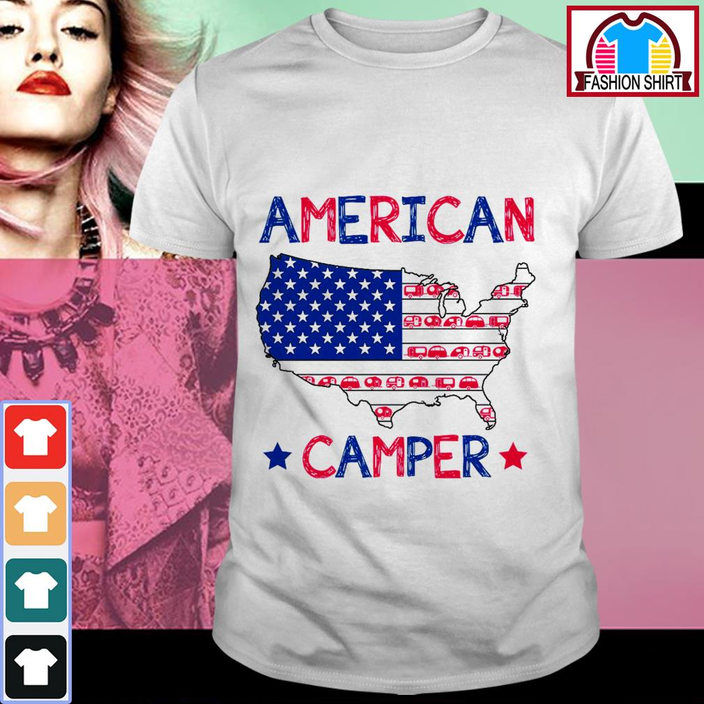Official 4th of July American camper independence day shirt by tshirtat store Shirt