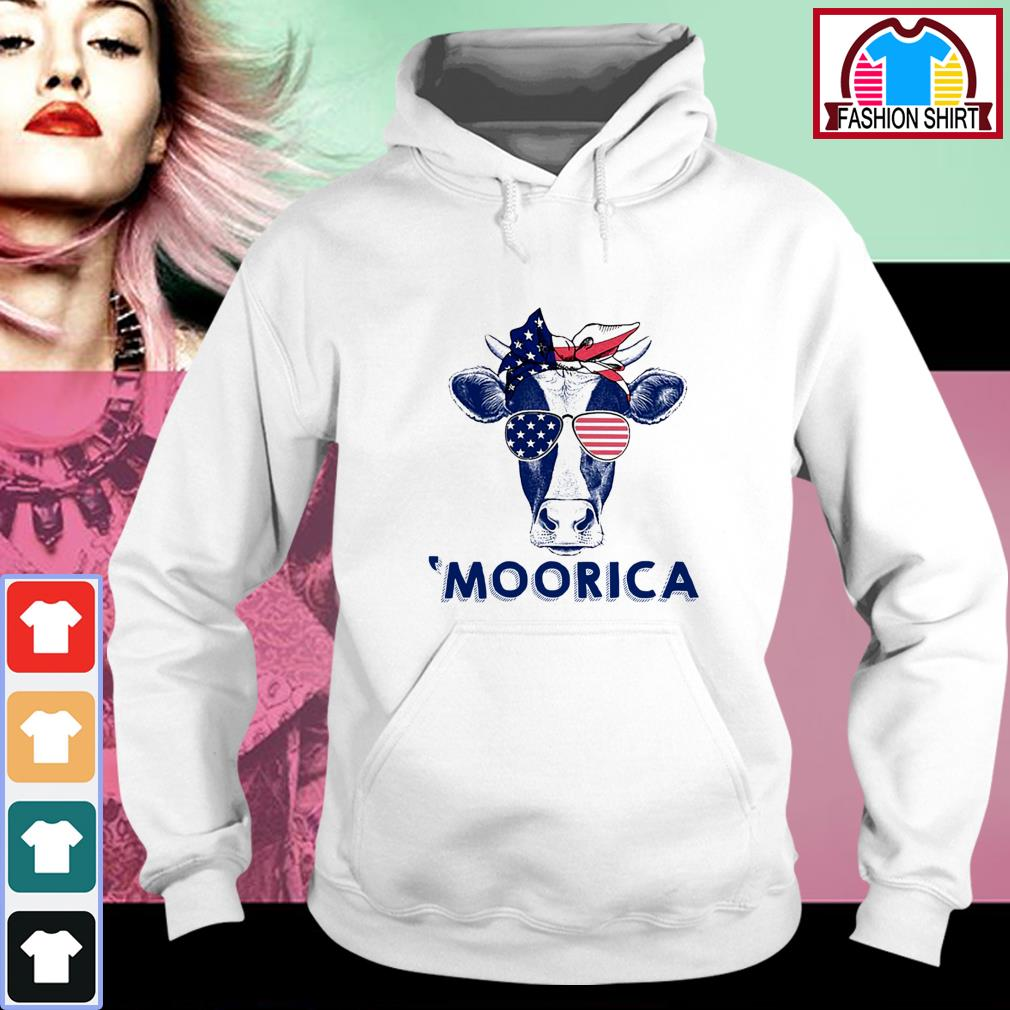 Official 4th of July Cow 'Moorica shirt by tshirtat store Hoodie