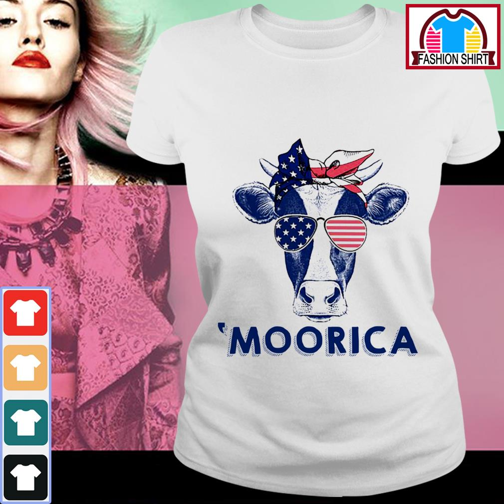 Official 4th of July Cow 'Moorica shirt by tshirtat store Ladies Tee