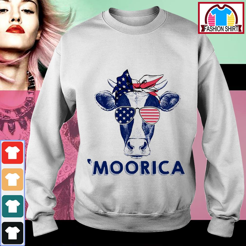 Official 4th of July Cow 'Moorica shirt by tshirtat store Sweater