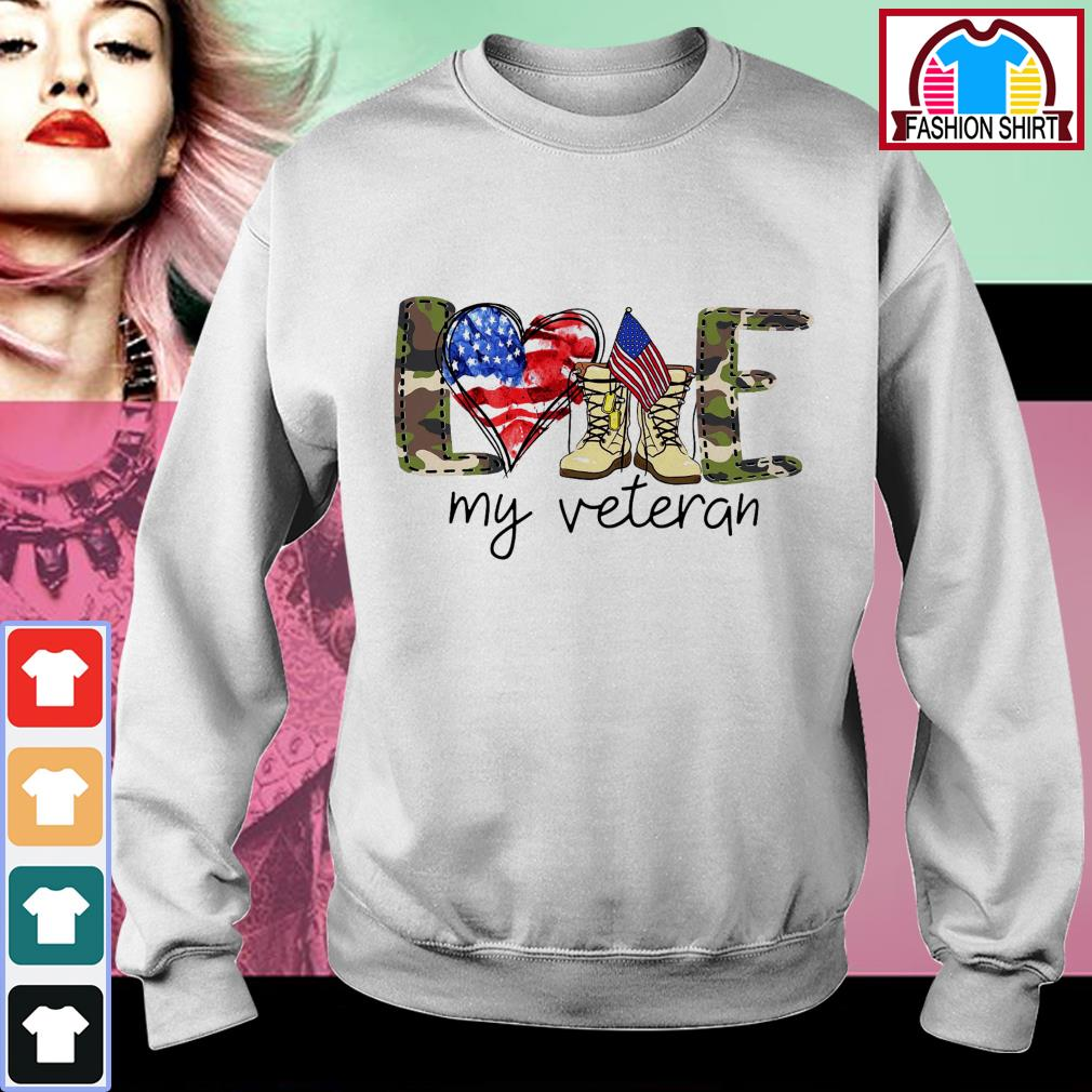Official 4th of July love my veteran shirt by tshirtat store Sweater