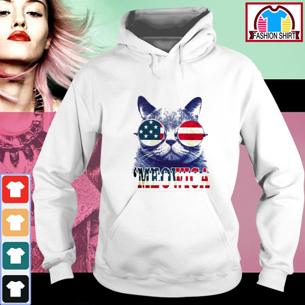 Official 4th of July 'meowica British Shorthair Cat shirt by tshirtat store Hoodie
