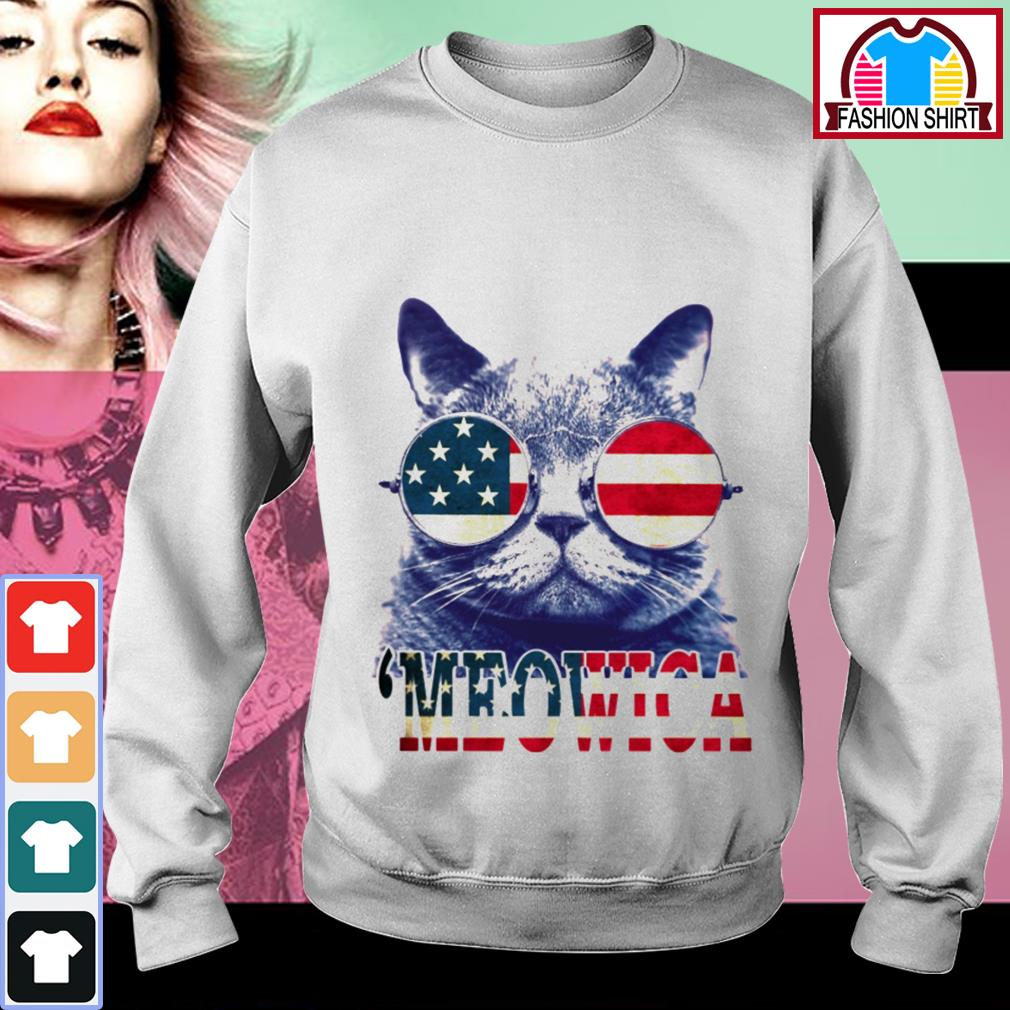 Official 4th of July 'meowica British Shorthair Cat shirt by tshirtat store Sweater