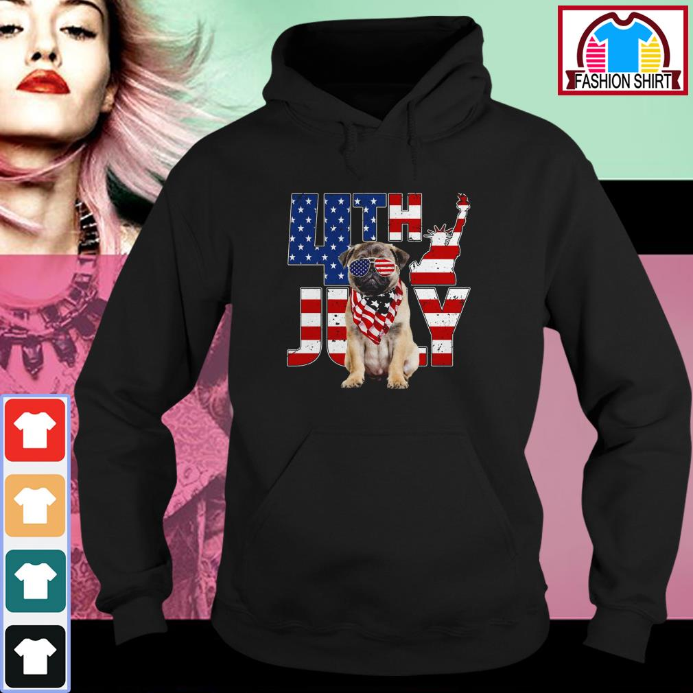 Official 4th of July Pug shirt by tshirtat store Hoodie