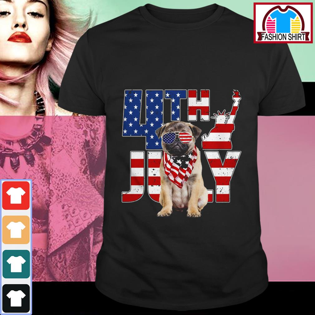 Official 4th of July Pug shirt by tshirtat store Shirt