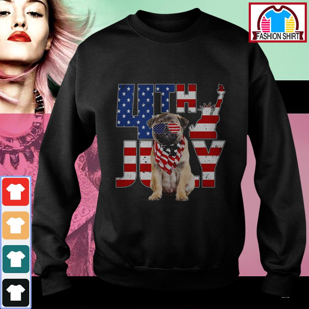 Official 4th of July Pug shirt by tshirtat store Sweater