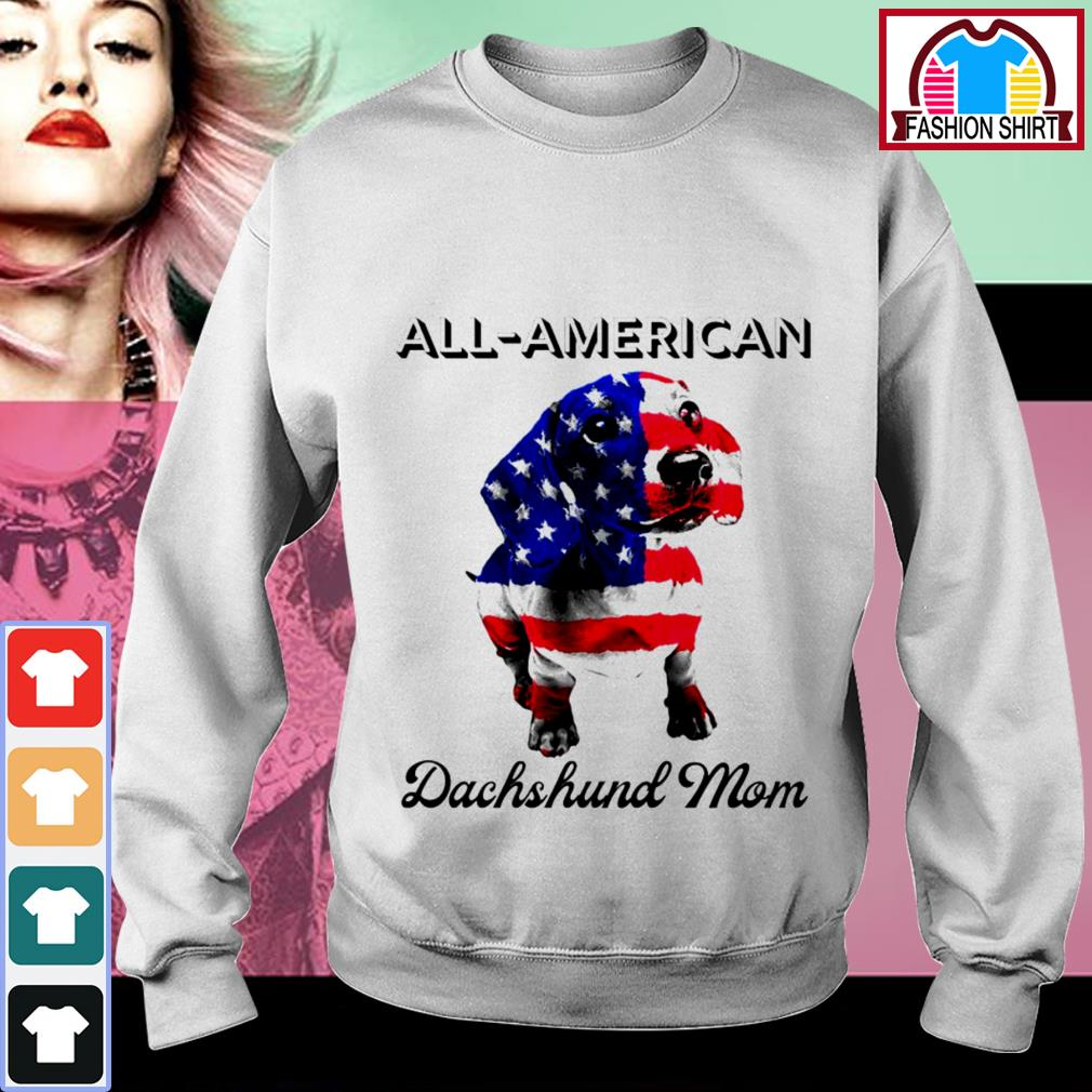 Official All-American Dachshund mom 4th of July shirt by tshirtat store Sweater