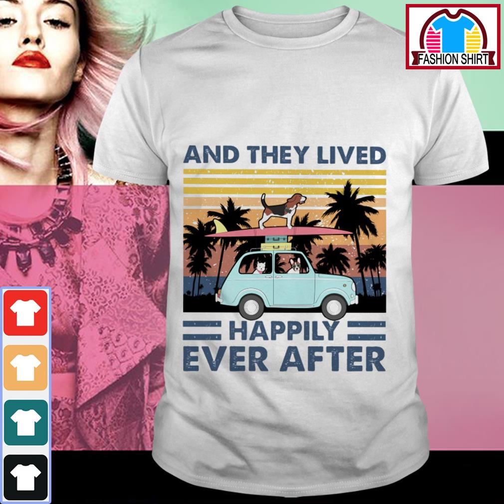 Official And they lived happily ever after vintage dog shirt by tshirtat store Shirt